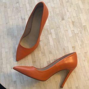 Zara orange high heel stilettos